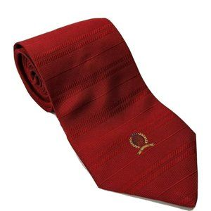 Tommy Hilfiger's Red Striped Woven Crest Tie